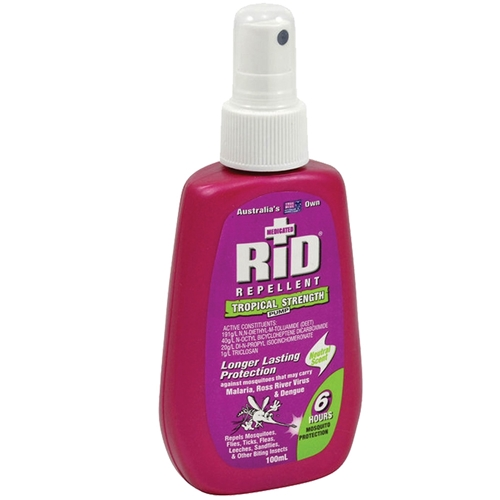 RID Tropical Strength Insect Repellent 100ml Pump
