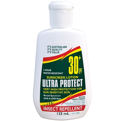 Ultra Protect® SPF30+ Sunscreen with Insect Repellent 125ml Fliptop
