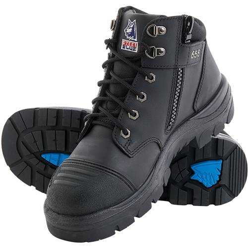 ad152f890d4 Steel Blue Parkes 95cm Z/Sided Safety Hiker Boots w/ Scuff Cap 312658