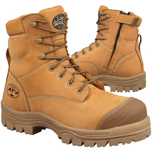 Oliver 150mm Wheat Zip Sided Safety Boots 45-632Z