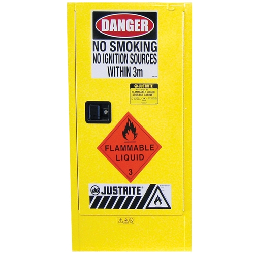 JUSTRITE Slim Line 110L Flammable Liquid Storage Cabinet AU25304
