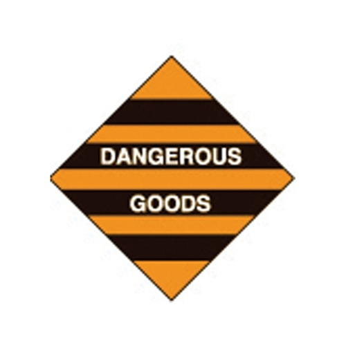 Hazchem Dangerous Goods Poly Sign 270 x 270mm
