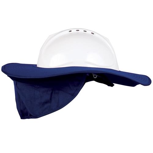7fd2b729943 Blue Rapta Hard Hat Brim with Neck Flap