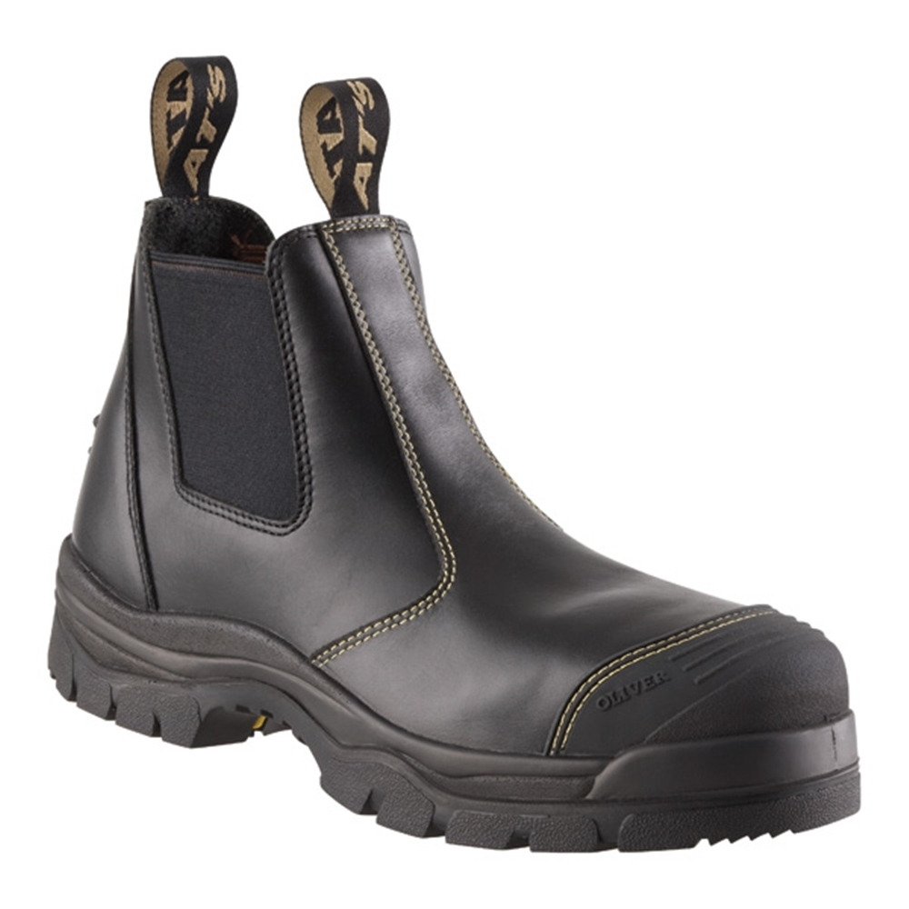 adbc9329e3b Oliver Black Elastic Sided Safety Boots 55-320