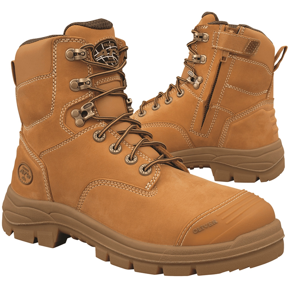 43082be76d1 Oliver AT 55 150mm Wheat Zip Sided Safety Boots