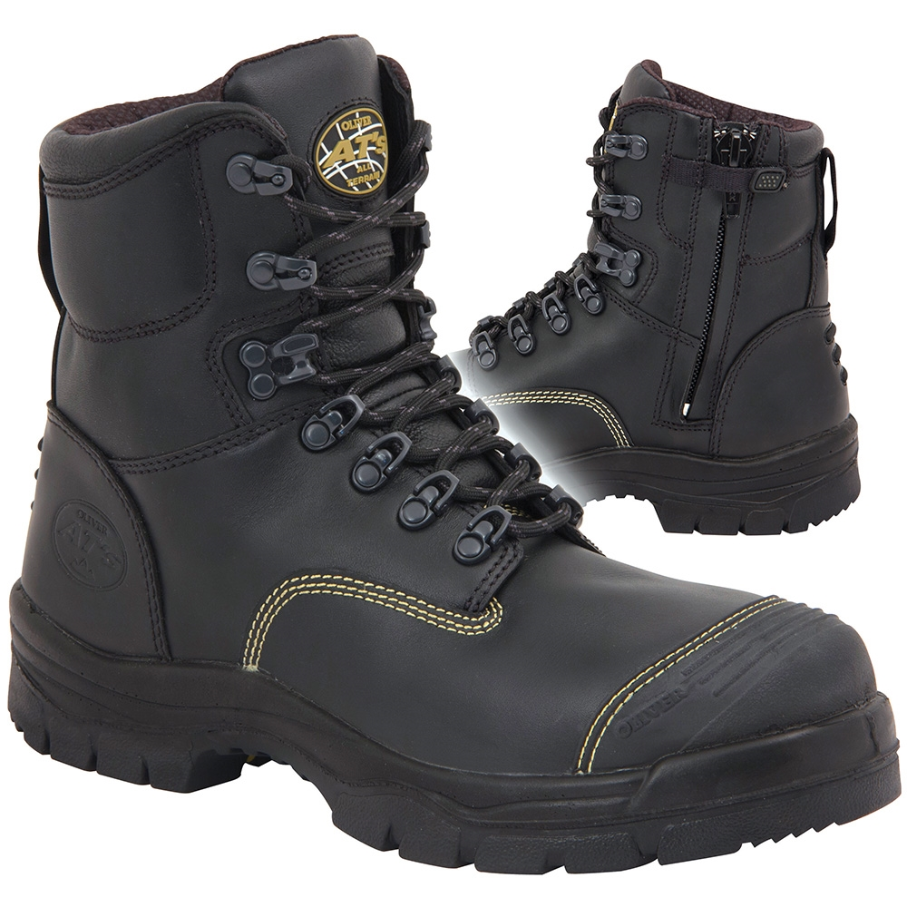 314a78e73ee Oliver 150mm Black Zip Sided Safety Boots 55-345Z
