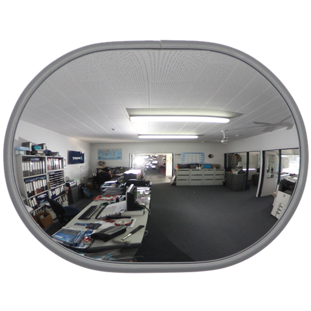 Safe T View Large Oval Economy Indoor Convex Mirror 6377