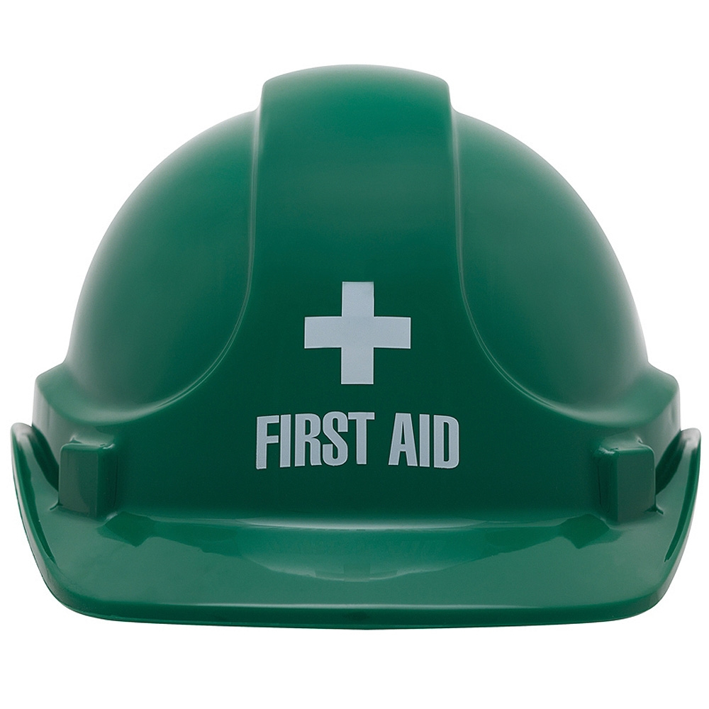 12d7dd0533d UniSafe Green First Aid Specialty Safety Helmet