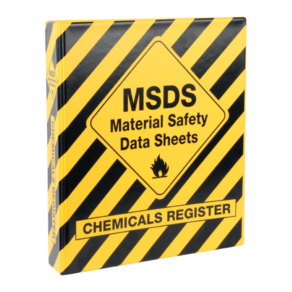 Msds Binder Table Of Contents Template