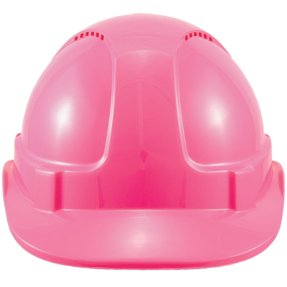 on site safety hammer head vented type 1 pink hard hat